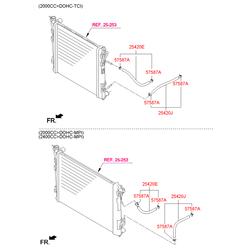 Хомут патрубка радиатора (Hyundai-KIA) 5758734500
