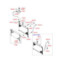 Шланг радиатора расширительного бачка (Hyundai-KIA) 254431G000