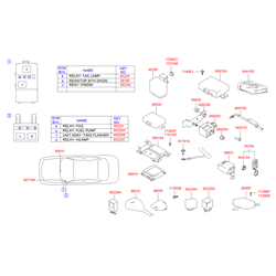 Реле вентилятора отопителя (Hyundai-KIA) 9522438050