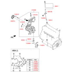 Сальник коленвала передний (Hyundai-KIA) 213612A100