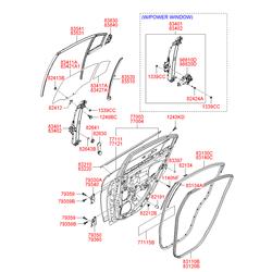 Стеклоподъемник (Hyundai-KIA) 834011G000