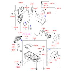 Крышка картера сцепления (Hyundai-KIA) 2141423600