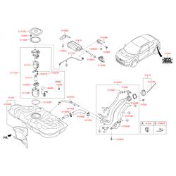 Клапан давления топлива (Hyundai-KIA) 353011G000