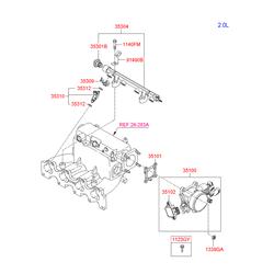 Скоба крепления форсунки (Hyundai-KIA) 3530926010