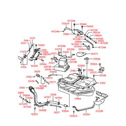 Клапан вентиляции топливного бака (Hyundai-KIA) 3143029200