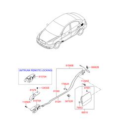 Ручка открывания лючка бензобака (Hyundai-KIA) 815701G000