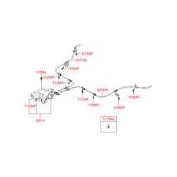 Трос ручного тормоза (Hyundai-KIA) 597601G010