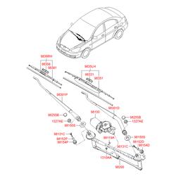 Держатель щетки стеклоочистителя (Hyundai-KIA) 983201G001