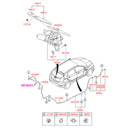 Колпачок поводка стеклоочистителя (Hyundai-KIA) 988122K000