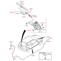Поводок стеклоочистителя (Hyundai-KIA) 988152F000
