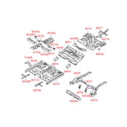 Усилитель буксировочного крюка (Hyundai-KIA) 655171G300