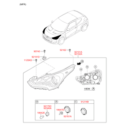Заглушка фары (Hyundai-KIA) 9216325000