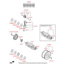 Шкив коленвала (Hyundai-KIA) 231242A001