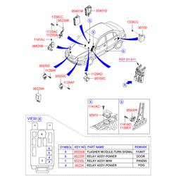 ПРИБОР ЗВУКОВОЙ СИГНАЛИЗАЦИИ ОХРАННЫЙ (Hyundai-KIA) 968101G001