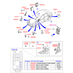 Прикуриватель (Hyundai-KIA) 951102D000