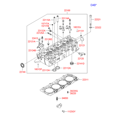 Прокладка гбц (Hyundai-KIA) 223114A110