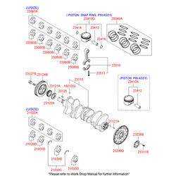 Вкладыши шатунные (Hyundai-KIA) 230603C921