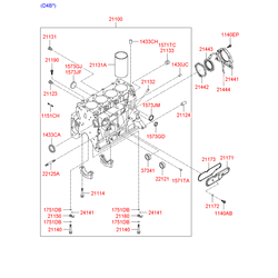 Гильза цилиндра (Hyundai-KIA) 211314A000