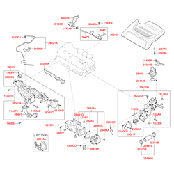 Крышка двигателя (Hyundai-KIA) 292402F010