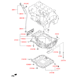 Передняя крышка (Hyundai-KIA) 213502F000