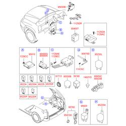 Реле дворников (Hyundai-KIA) 9522538050