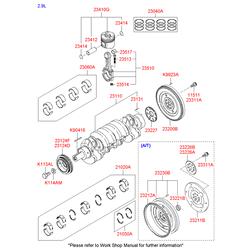 Шкив коленвала (Hyundai-KIA) 2312439802