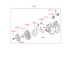 Муфта компрессора кондиционера (Hyundai-KIA) 9764426300