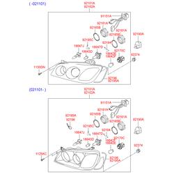 Лампочки ближнего света на киа соренто 1 (Hyundai-KIA) 1864755009