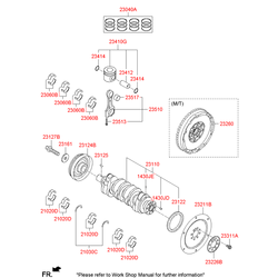 Маховик (Hyundai-KIA) 232002F110