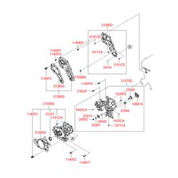 Масляный насос (Hyundai-KIA) 261004A011