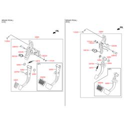 Накладки на педали (Hyundai-KIA) 328252K500