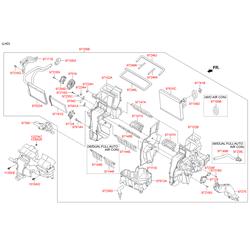 Заслонки отопителя (Hyundai-KIA) 971611JAA0