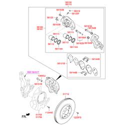 Суппорт (Hyundai-KIA) 581102W700