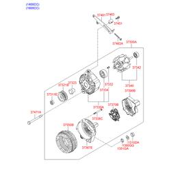 Подшипники генератора (Hyundai-KIA) 3732337400
