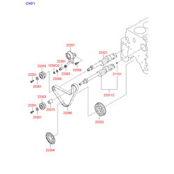 Вал балансировочный (Hyundai-KIA) 2331132604