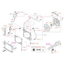 Расширительный бачок (Hyundai-KIA) 254302W000