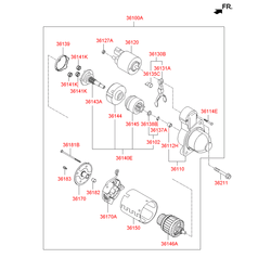 Реле втягивающее (Hyundai-KIA) 361202G200