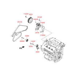 Ролик приводных ремней (Hyundai-KIA) 252813C100