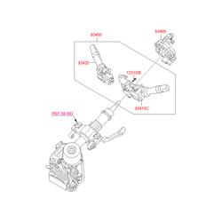 Переключатель подрулевой (Hyundai-KIA) 934103S530