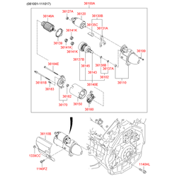 Стартер киа соренто 3_5 бензин (Hyundai-KIA) 361003C150