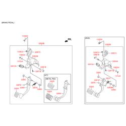 Накладка на педаль сцепления (Hyundai-KIA) 3282517010