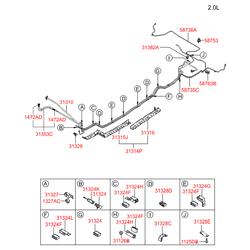 Датчик давления в рампе (Hyundai-KIA) 3140127000