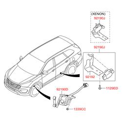 Крышка фары (Hyundai-KIA) 921402M010