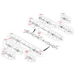 Шрус левый передний (Hyundai-KIA) 495002W600
