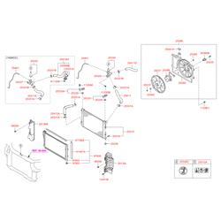 Kia Soul радиатор охлаждения (Hyundai-KIA) 253103X151