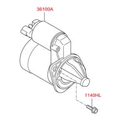Втягивающее реле (Hyundai-KIA) 361202B300