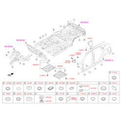Шумоизоляция Киа Соул 2015 (Hyundai-KIA) 8415133A00
