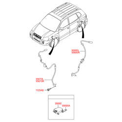 Датчик абс на Киа Спортейдж 2 (Hyundai-KIA) 956802E500