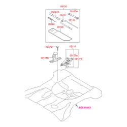 Буксировочный крюк (Hyundai-KIA) 091472B000