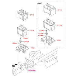 Аккумулятор для Киа Спортейдж (Hyundai-KIA) 371102E100